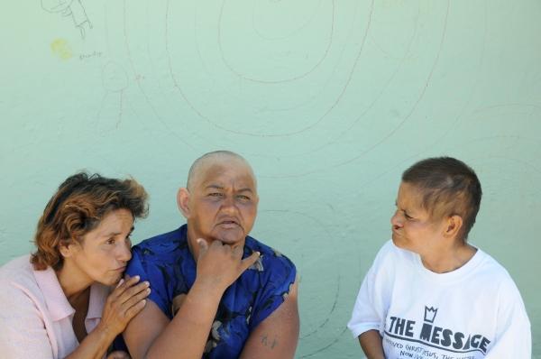L-R: Elia, Marta and Leticia. Photo by Morgan Smith